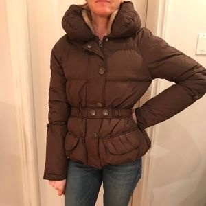 VERO MODA Brown Winter Puffer Jacket